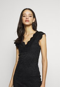 ONLY - ONLALBA VNECK DRESS - Cocktail dress / Party dress - black - 4