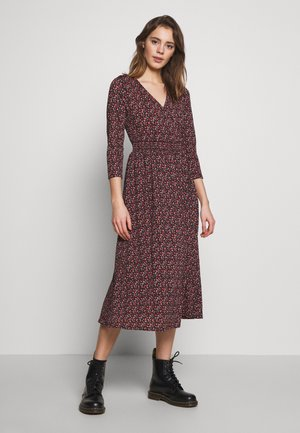 ONLPELLA 3/4 DRESS - Korte jurk - black/route ditsy
