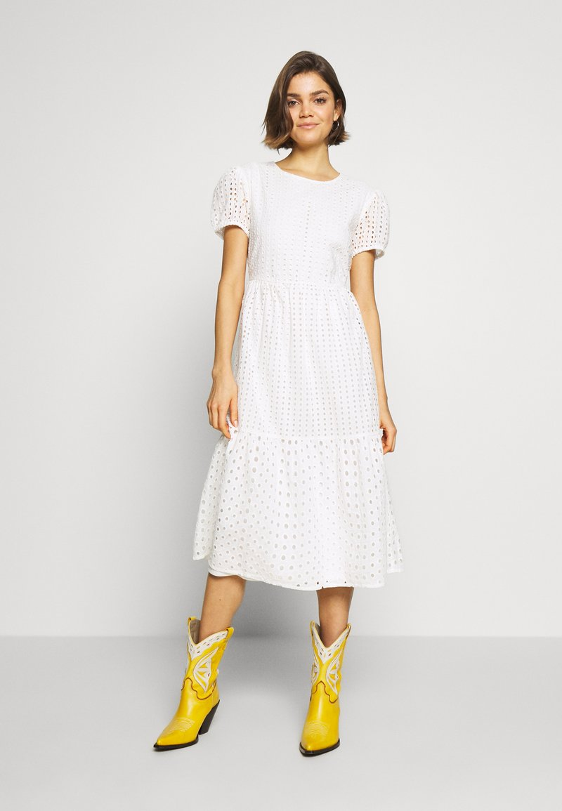 ONLY - ONLSANNIE CALF DRESS - Day dress - cloud dancer