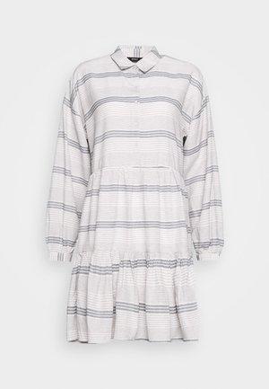 ONLMILA SHORT DRESS - Košilové šaty - pumice stone/dark denim