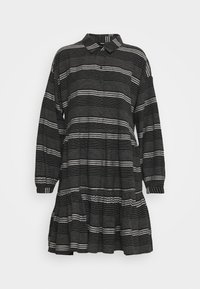 ONLY - ONLMILA SHORT DRESS - Vestido camisero - black/cloud dancer - 4