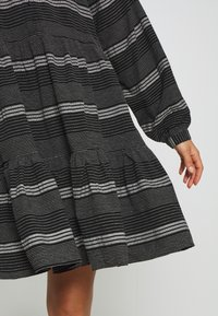 ONLY - ONLMILA SHORT DRESS - Vestido camisero - black/cloud dancer - 5