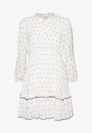 ONLJOLYN DOT DRESS AFFA - Denní šaty - cloud dancer/syrah