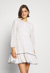 ONLY - ONLJOLYN DOT DRESS AFFA - Denní šaty - cloud dancer/syrah - 0