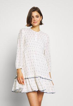 ONLJOLYN DOT DRESS AFFA - Robe d'été - cloud dancer/syrah