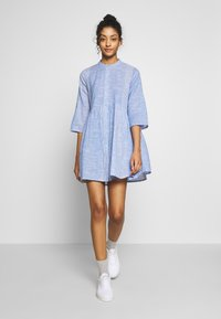 ONLY - ONLCHICAGO LIFE STRIPE DRESS - Day dress - cloud dancer/medium blue - 2