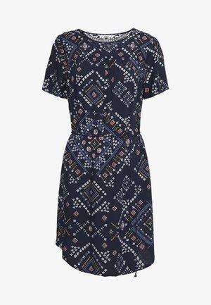 ONLDEE LIFE DRESS - Denní šaty - peacoat/graphic boho