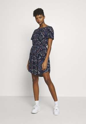 ONLDEE LIFE DRESS - Korte jurk - peacoat/graphic boho