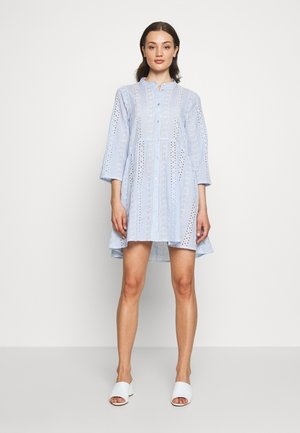 ONLCHICAGO MIRIAM DRESS FAN - Blousejurk - cloud dancer/medium blue