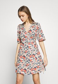 ONLY - ONLHEYDAISY WRAP DRESS - Kjole - night sky - 0