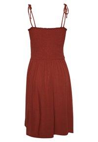 ONLY - ONLANNIKA SMOCK DRESS - Korte jurk - henna - 1