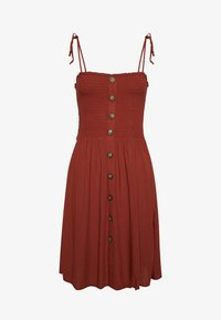ONLY - ONLANNIKA SMOCK DRESS - Korte jurk - henna - 0