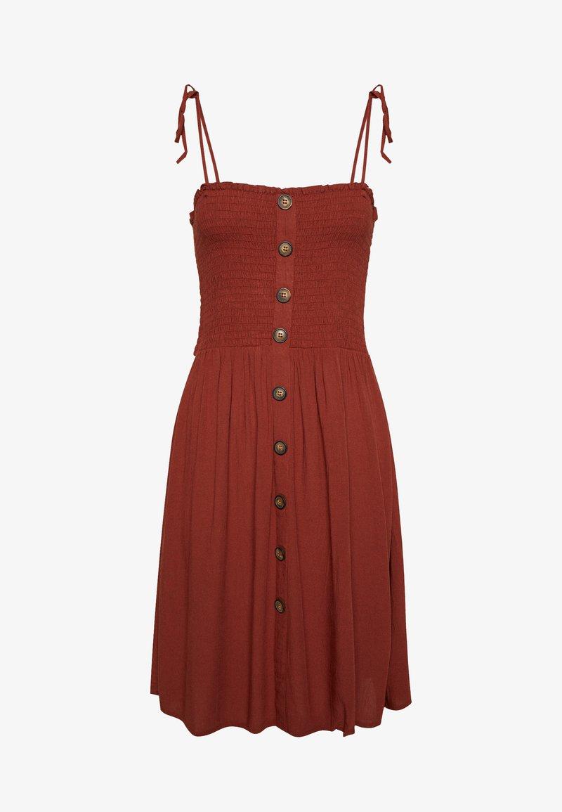 ONLY - ONLANNIKA SMOCK DRESS - Korte jurk - henna
