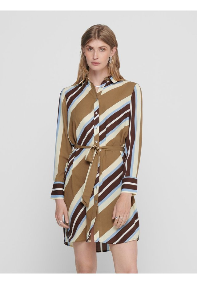 Shirt dress - toasted coconut