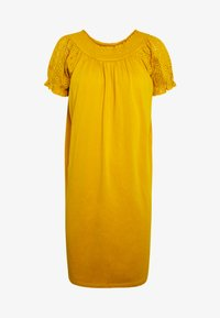 ONLY - ONLVANNA DRESS - Žerzejové šaty - golden yellow - 4