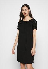 ONLY - ONLVANNA DRESS - Jersey dress - black - 0
