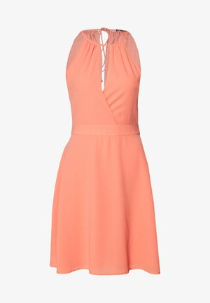 ONLCHARLENE ABOVE KNEE DRESS - Cocktailklänning - terra cotta