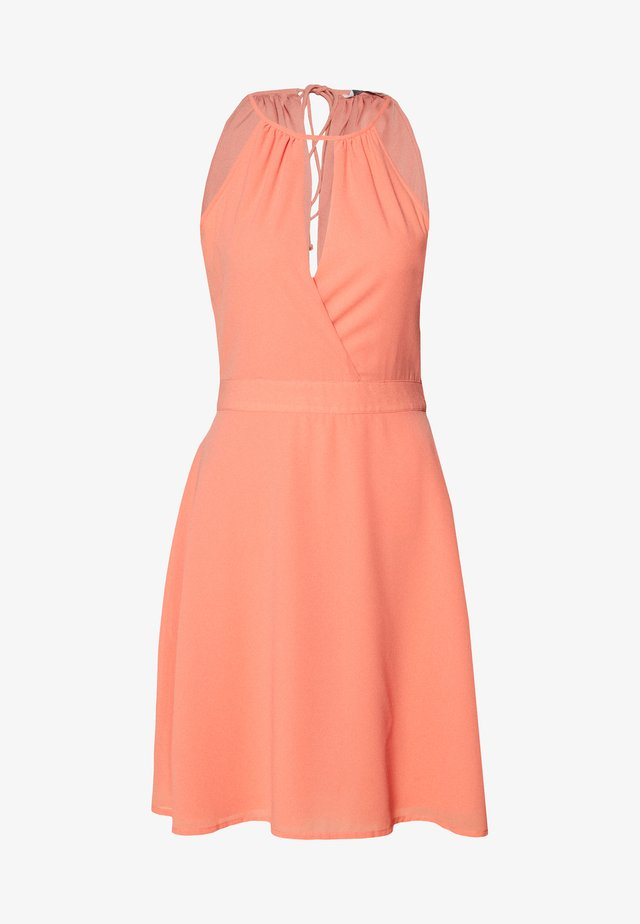 ONLCHARLENE ABOVE KNEE DRESS - Juhlamekko - terra cotta
