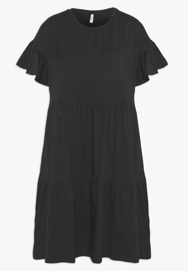 ONLTENNA LIFE CUTLINE DRESS - Vestito di maglina - black