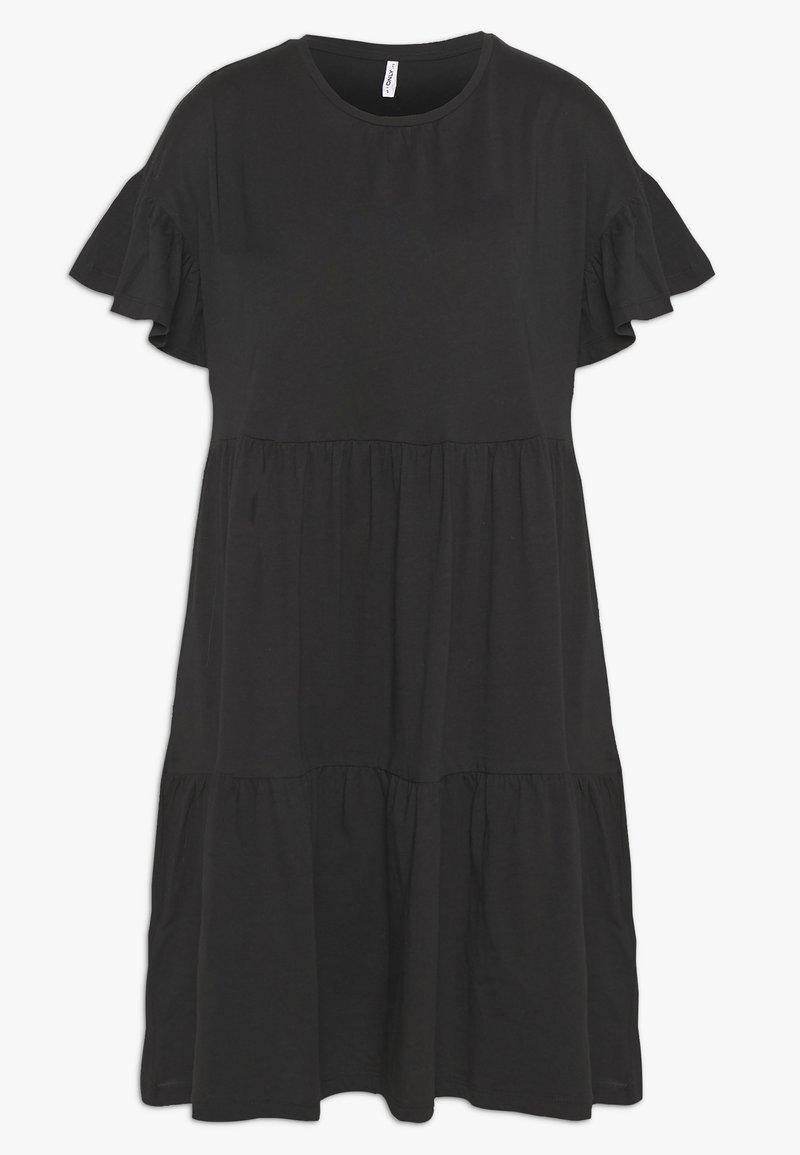 ONLY - ONLTENNA LIFE CUTLINE DRESS - Žerzejové šaty - black