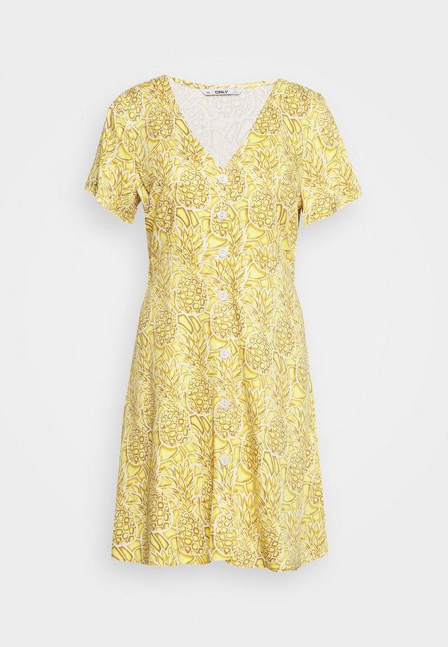 ONLALMA LIFE BUTTON DRESS - Vestido camisero - cloud dancer/pineapples