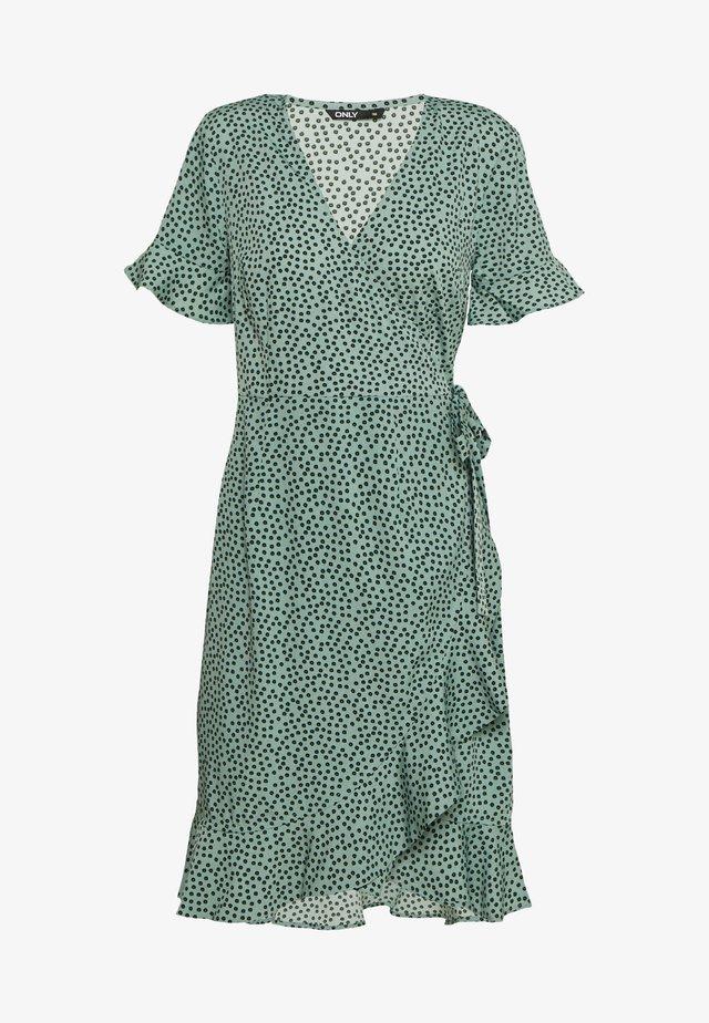 Korte jurk - green/black