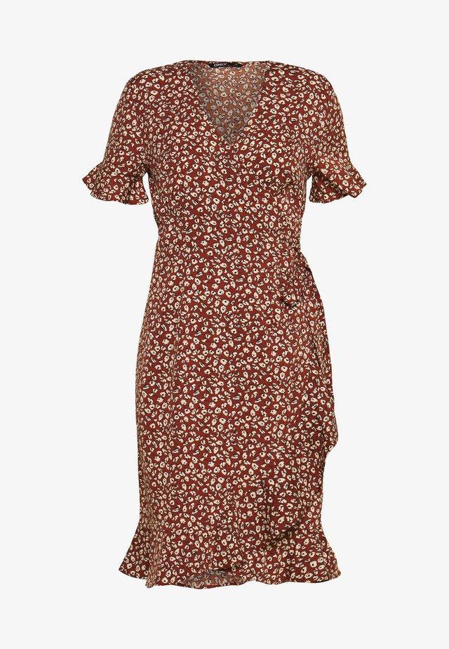 Korte jurk - henna