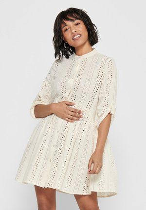 BLUSENKLEID LOCHSTICKEREI - Shirt dress - eggnog