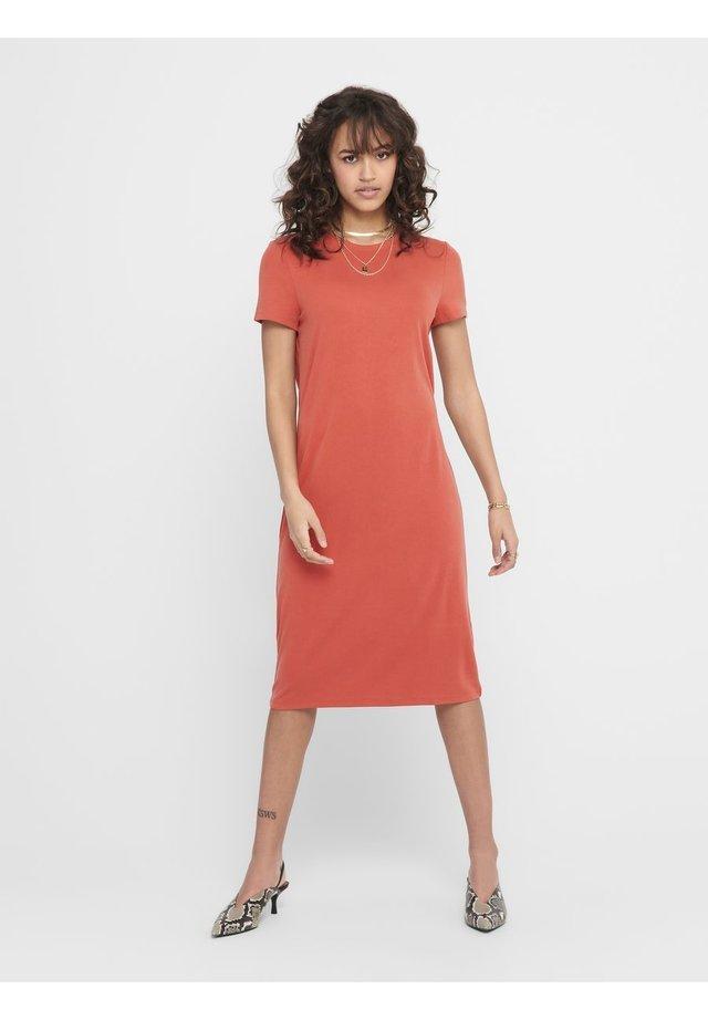 Korte jurk - hot sauce