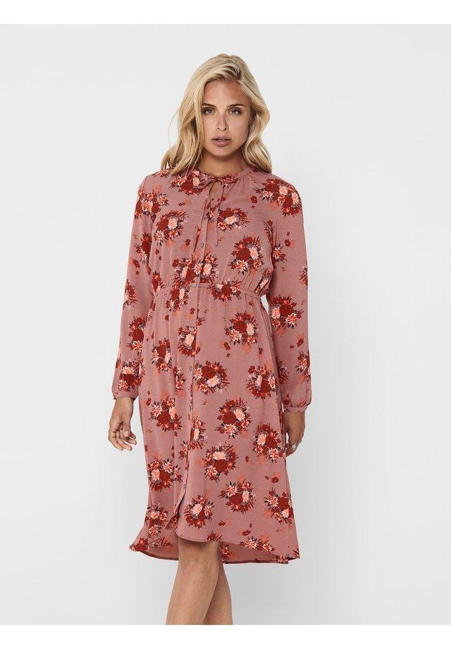 Shirt dress - burlwood