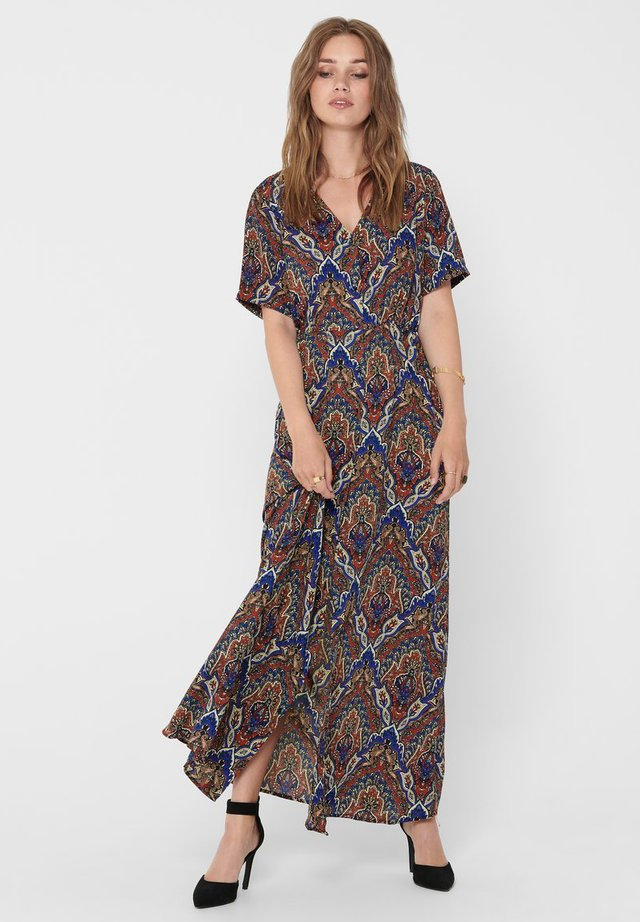 ONLHANNA S/S ANCLE DRESS WVN - Vestido largo - burnt henna