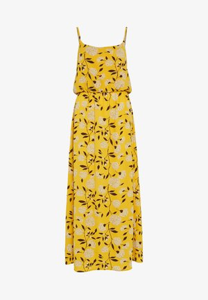 ONLNOVA LUX MAXI DRESS - Maxi šaty - golden yellow/white yellow