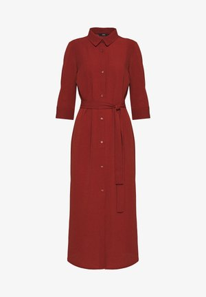 ONLNOVA LUX 3/4 SHIRT DRESS SOLID - Robe d'été - brown