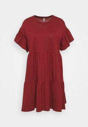 ONLMAY NEW LIFE CUTLINE DRESS - Žerzejové šaty - pomegranate