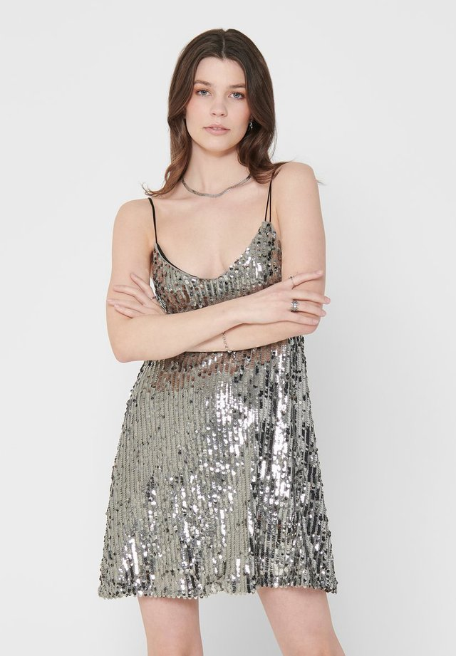 PAILLETTEN - Cocktail dress / Party dress - silver