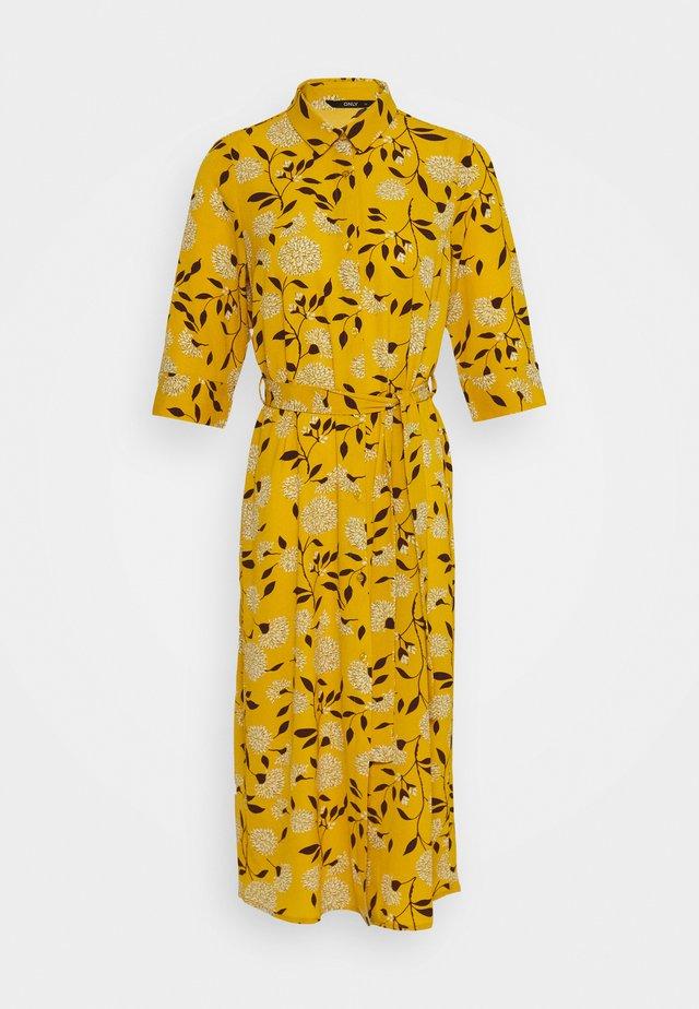 ONLNOVA LUX DRESS - Vestito estivo - golden yellow/white