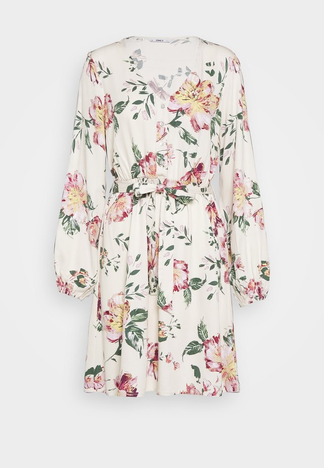 ONLALMA LIFE DRESS - Vapaa-ajan mekko - cloud dancer/jasmin flower
