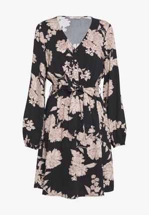 ONLALMA LIFE DRESS - Robe d'été - black/vintage flower