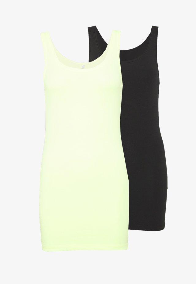 ONLLIVE LOVE NEW 2PACK - Top - black/neon yellow
