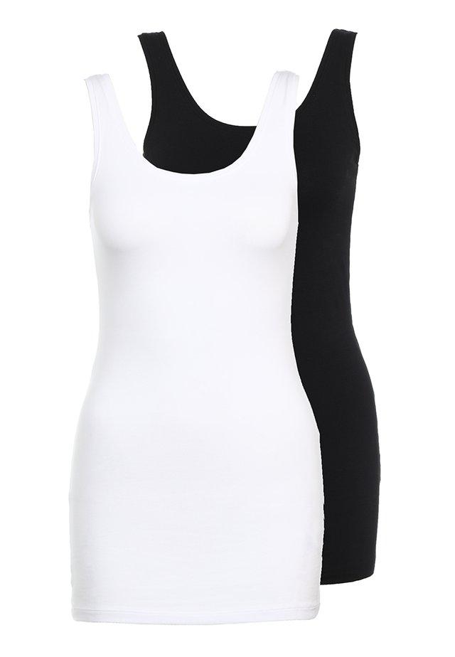 ONLLIVE LOVE NEW 2PACK - Top - black/white