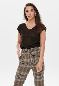 ONLY - T-shirt basic - brown - 0