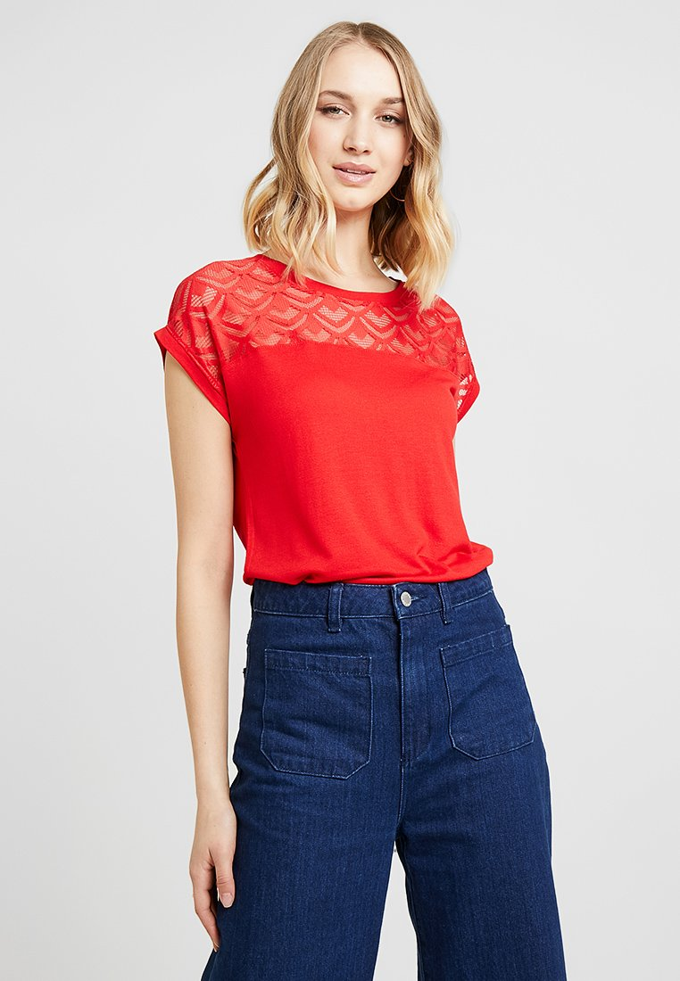ONLY - ONLNICOLE - Print T-shirt - high risk red