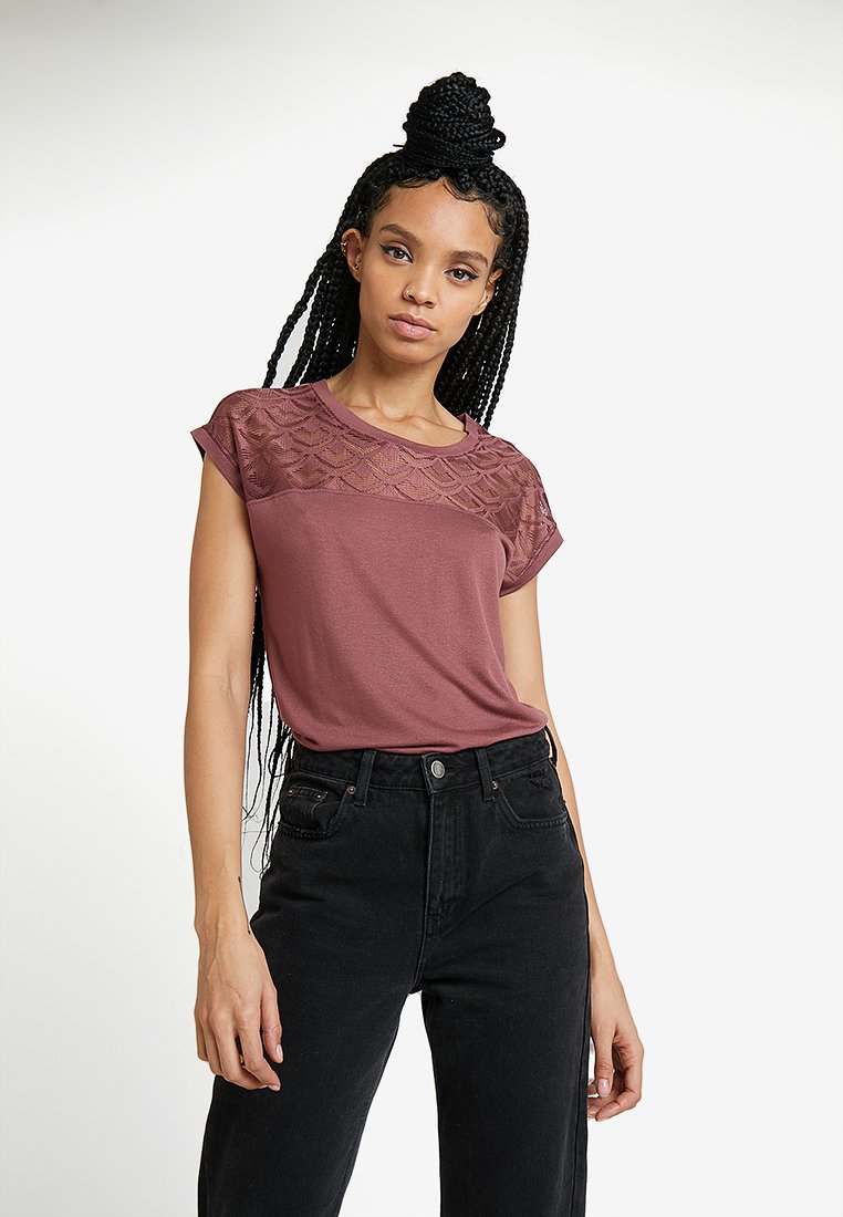 ONLY - ONLNICOLE - T-Shirt print - wild ginger