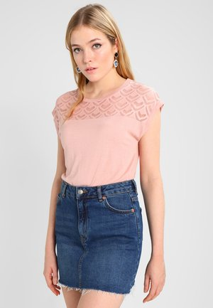 T-shirt con stampa - misty rose