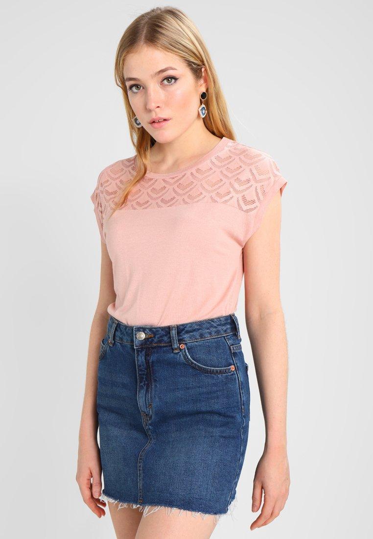ONLY - T-shirt z nadrukiem - misty rose