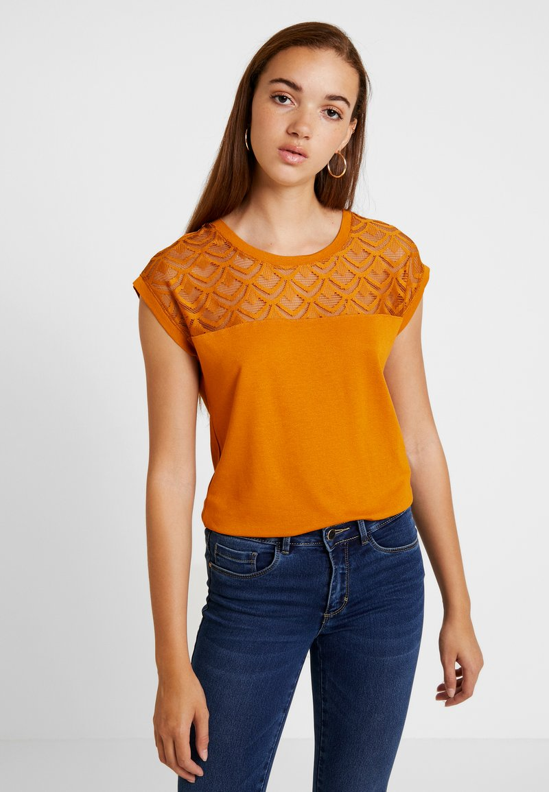 ONLY - ONLNICOLE - Print T-shirt - sudan brown