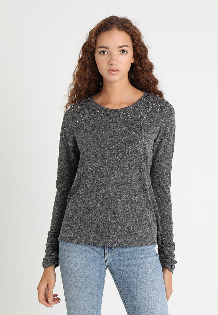 ONLY - ONLUMA BLING - Long sleeved top - dark grey melange