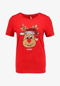 ONLY - ONLCHRISTMAS BLING BOX - Print T-shirt - goji berry - 4