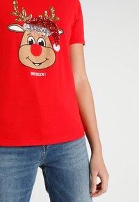 ONLY - ONLCHRISTMAS BLING BOX - Print T-shirt - goji berry - 5