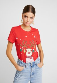 ONLY - ONLCHRISTMAS BLING BOX - T-shirts med print - goji berry - 0